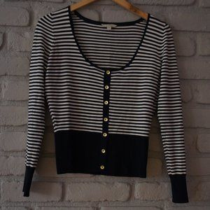 Guess Cropped Striped Sweater
